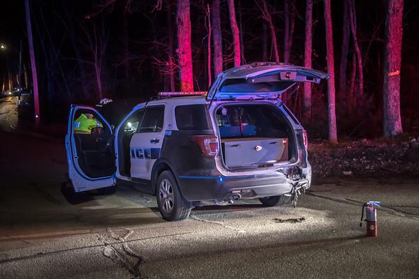 Plainville, MA Police cruiser fire 4/3/2021