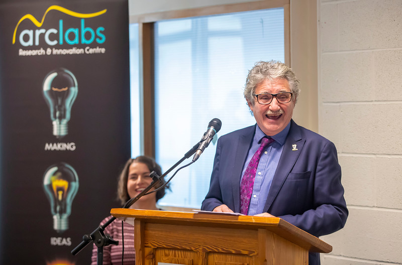 15/11/2019. FREE TO USE IMAGE. Pictured at the The official opening of the ArcLabs Research & Innovation Centre WIT extension, at Carriganore, Co Waterford. Pictured is John Halligan TD, Minister for Training, Skills, Innovation, Research and Development. Picture: Patrick Browne.