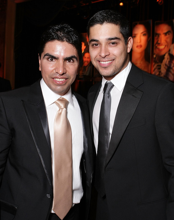 ". BEVERLY HILLS, CA - FEBRUARY 22:  Radio personality Eduardo ""Piolin\"" Soleto and actor Wilmer Valderama attend the 11th Annual Impact Awards Gala presented by the National Hispanic Media Coalition, held at the Beverly Wilshire Hotel on February 22, 2008 in Beverly Hills, California.  (Photo by Alberto E. Rodriguez/Getty Images)"