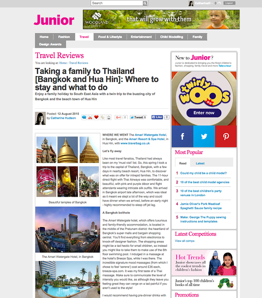 Taking a family to Thailand [Bangkok and Hua Hin]: Where to stay and what to do