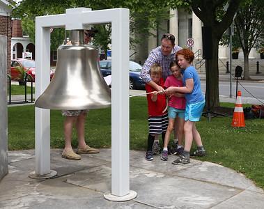 Bell ringing ceremony in Bennington. 070419