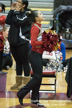2/3/2018 Wheaton HS at MCPS County Poms Championship Blair HS Division 3, Photos by Jeffrey Vogt Photography with Kyle Hall