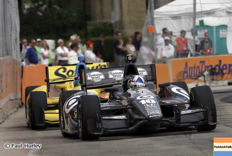 June 2: Dario Franchitti and Mike Conway during the Chevrolet Detroit Belle Isle Grand Prix.