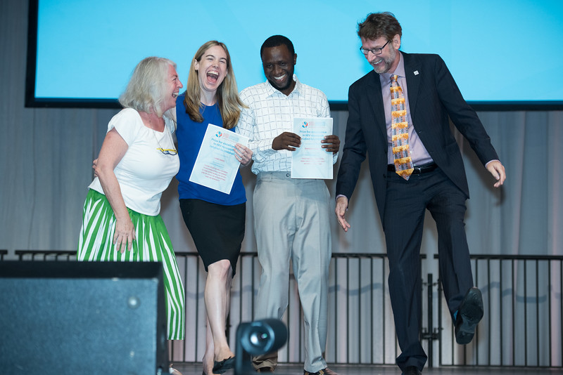 22nd International AIDS Conference (AIDS 2018) Amsterdam, Netherlands   Copyright: Marcus Rose/IAS  Photo shows: Plenary Session. Prize winners for Excellence in HIV Research Related to Children