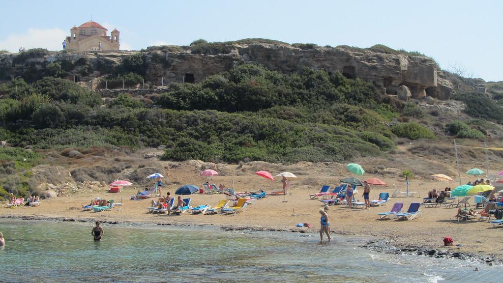The great beach at Agios Georgios.