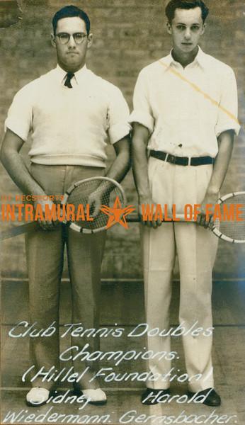 TENNIS Doubles Champions  Hillel Foundation  Sidney Wiedermann & Harold Gernsbacher