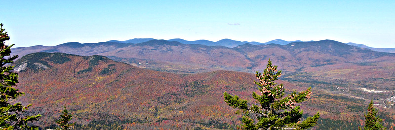 Looking NW from Mt. Surprise - Pine Mtn. in left foreground.