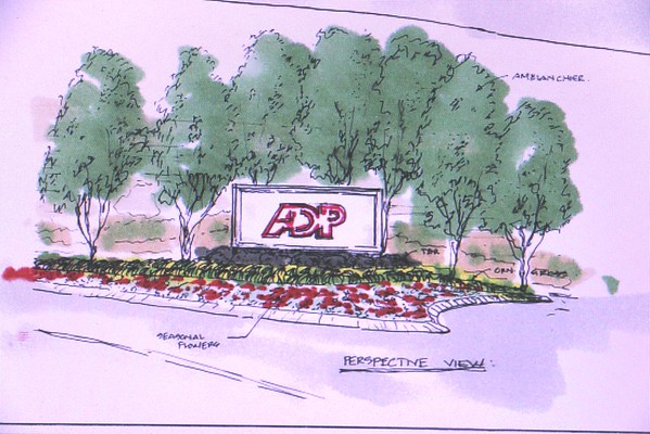 ADP Entry Sign Photos , sketches and design plan 2014-15