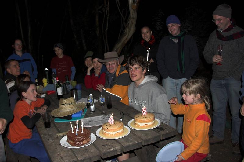 Multiple birthdays were celebrated: Jon Buttery and Dale Bradbury