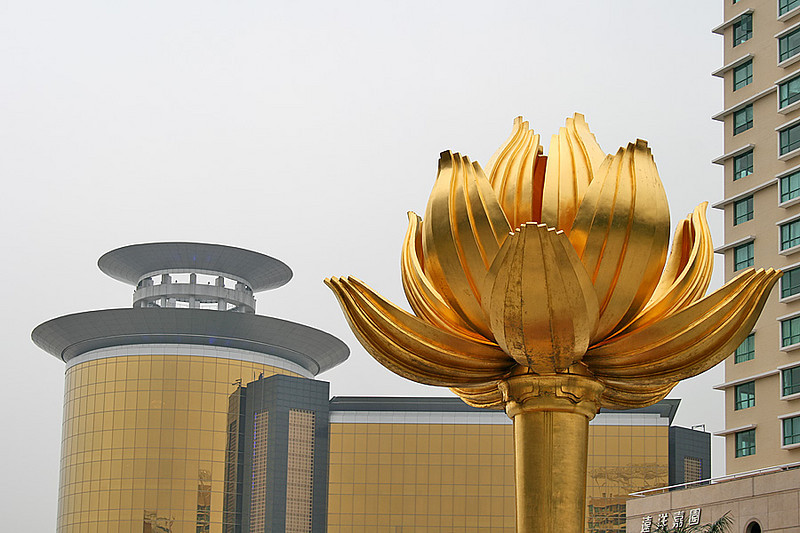 Lotus Square, Macau - in the backdrop of Sands Casino