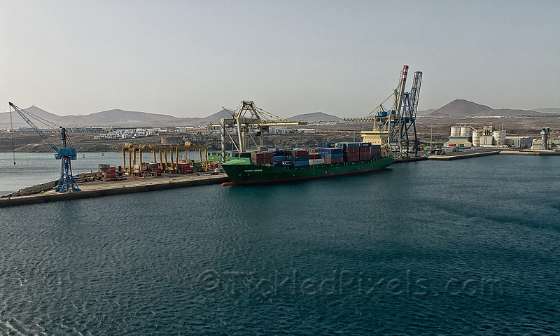 Container Ship Nordic Luebeck in Arrecife Harbour