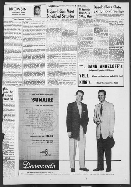 Daily Trojan, Vol. 46, No. 118, April 20, 1955
