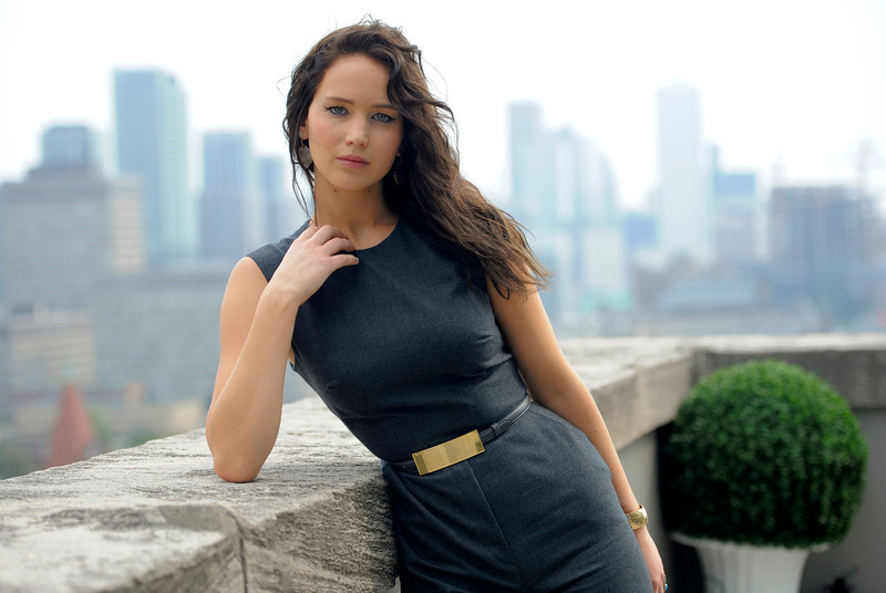". Jennifer Lawrence, a cast member in the film ""Silver Linings Playbook,\"" poses for a portrait at the 2012 Toronto Film Festival, Friday, Sept. 7, 2012, in Toronto. (Photo by Chris Pizzello/Invision/AP)"