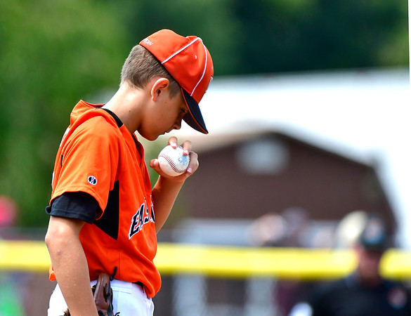 8/7/2019 Mike Orazzi | Staff Pennsylvania's Aaron Angelo (6) during Wednesday's Eastern Regional Little League Baseball game with New Jersey at Breen Field in Bristol.