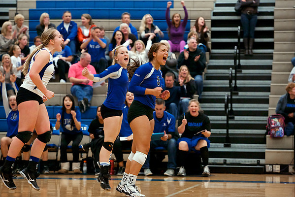 BHS Volleyball v Eastlake 10.16.13