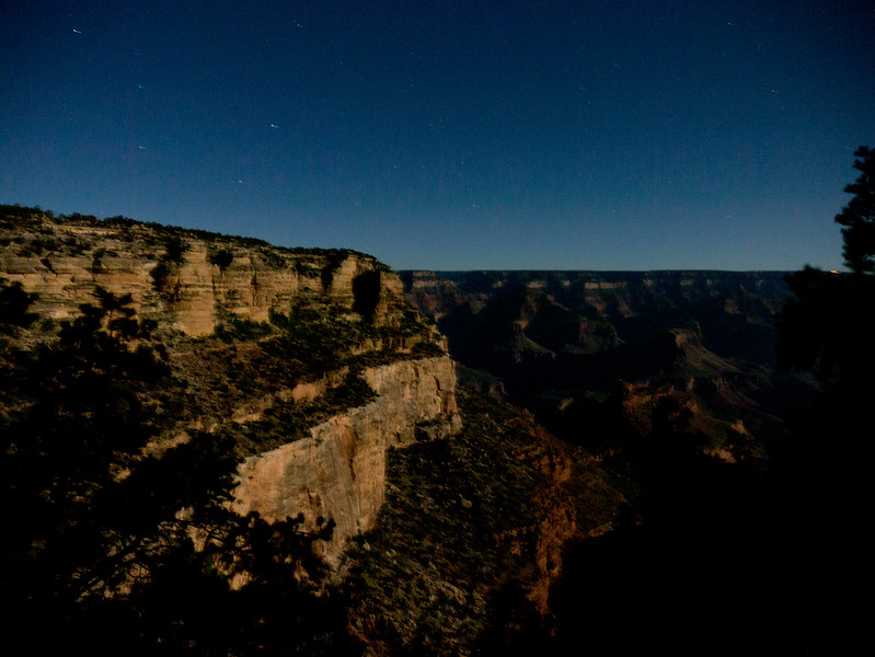 Night Sky and the Big Dipper over the Grand Canyon
