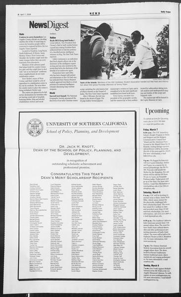 Daily Trojan, Vol. 157, No. 53, April 07, 2006