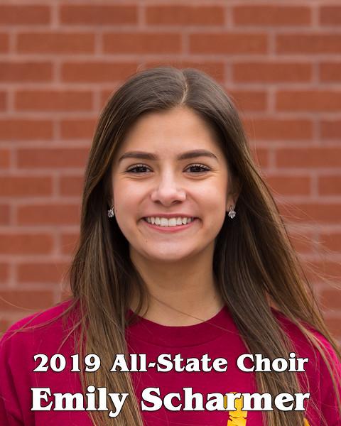 2019 All-State Choir Head Shots