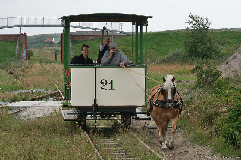 Take it easy by horse train @ Spiekeroog Germany 15Jul04