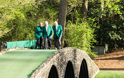 Masters 2014 with Jack, Arnie and Gary
