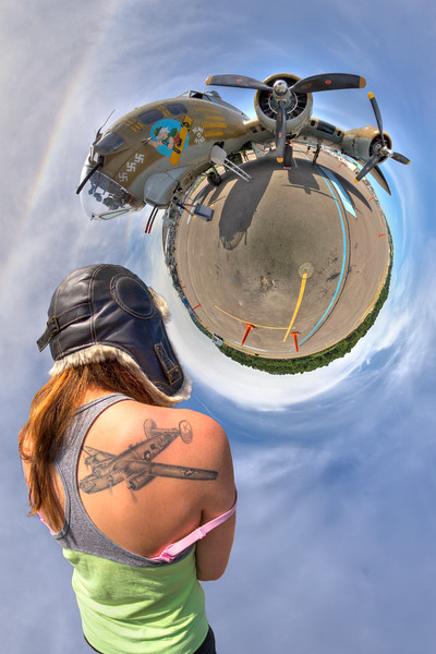 Flight-Collings B-17 Nose Art Pano-V1-Little Planet-composite.jpg