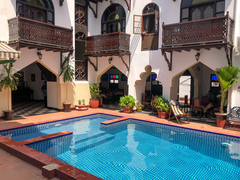 Dhow Palace hotel in Stone Town