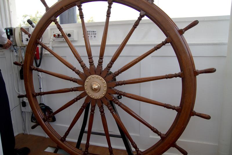 Wheel on the Mark Twain Riverboat at Disneyland