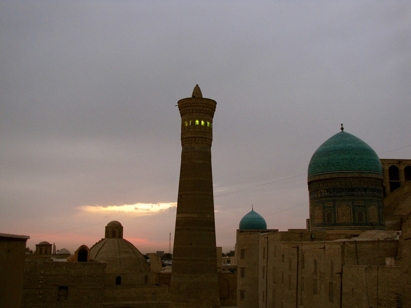 the Kalon Minaret in Bukhara