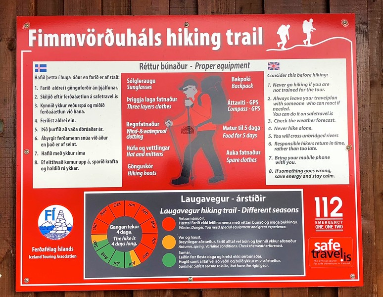 Serious warnings for hikers