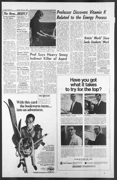 Daily Trojan, Vol. 58, No. 89, March 14, 1967