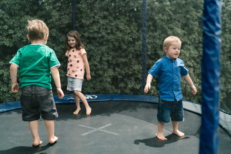Kids on a Trampoline