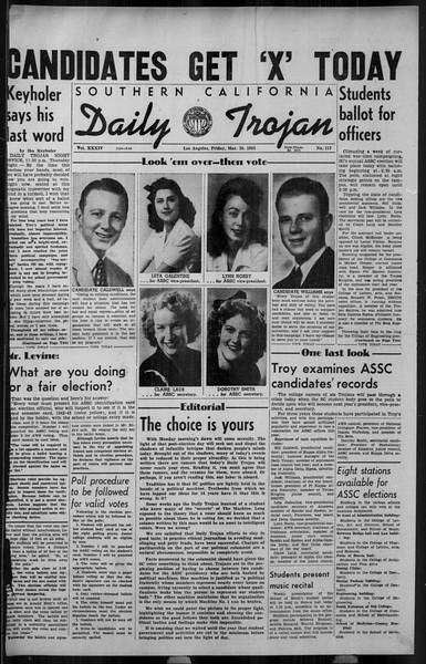 Daily Trojan, Vol. 34, No. 113, March 26, 1943