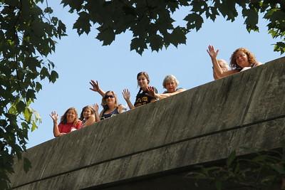 Spectators, Duck Race, Tuscarora Fire Company, Tuscarora (7-26-2014)