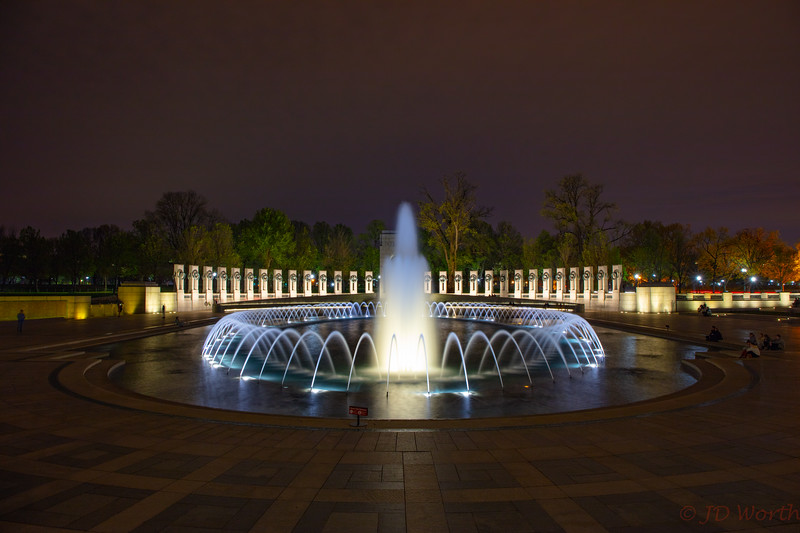 042118 Washington DC - WWII Memorial -Fountains European Theater View Night-2240.jpg