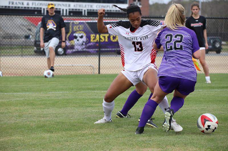 Women's Soccer vs. Furman (Spring 2019)