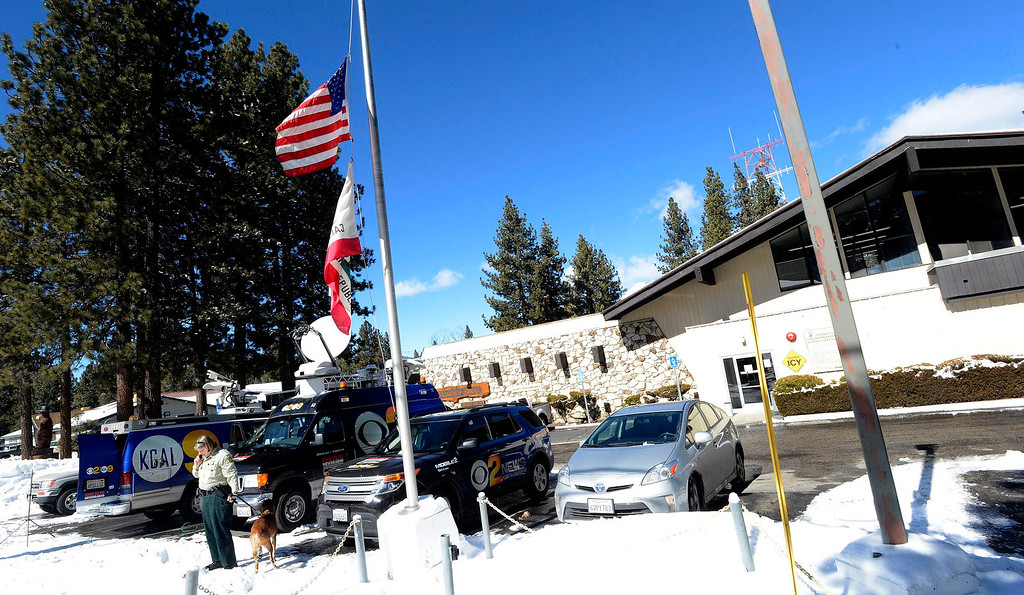 . A view of the San Bernardino County Sheriff\'s Department Big Bear Station as seen in Big Bear Lake February 1, 2013.  After four days of active searching, authorities has drastically reduced the manhunt for Christopher Dorner in the Big Bear area.  Schools in the Big Bear area have reopened today.  GABRIEL LUIS ACOSTA/STAFF PHOTOGRAPHER.