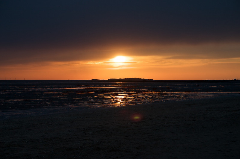 Sunset over Hilbre Island