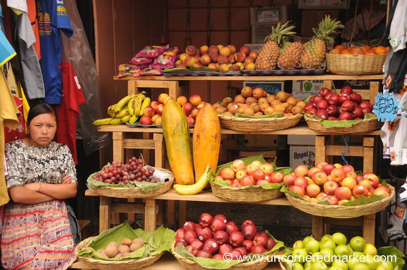Fruit Stand at  Antigua Market, Guatemala