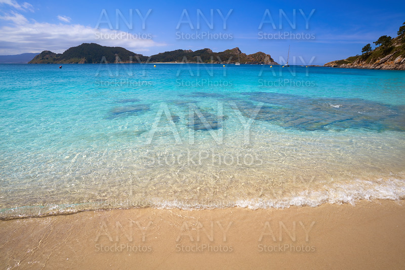 Nostra Senora beach in Islas Cies islands of Vigo
