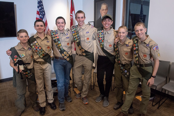 Eagle Scout Court of Honor Troop 91 Philmont National Scouting Museum Dec. 15, 2019