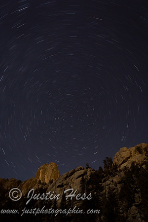 Twin Owls Star Trails 01-26-2015