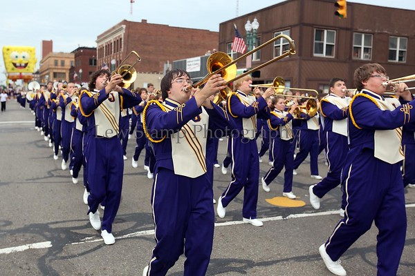 Jackson High School Band passes during the Timken Grand Parade celebrating the Pro Football Hall of Fame induction ceremony on Saturday, August 8, in Canton. Ohio  By Lew Stamp, PhotoStamp@sbcglobal.net