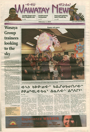 Wawatay News cover 2010 February 10