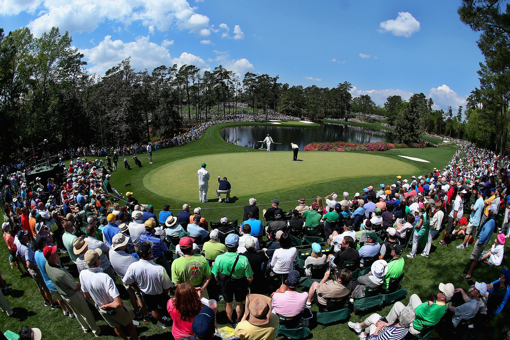 . The fifth green is seen during the Par Three Contest prior to the start of the 2014 Masters Tournament at Augusta National Golf Club on April 9, 2014 in Augusta, Georgia.  (Photo by Andrew Redington/Getty Images)