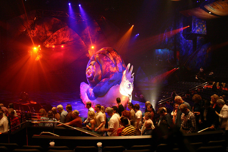 No photography was allowed during the show but Cly figured it would be okay to snap a quick photo of the Mystere snail while we were walking out.