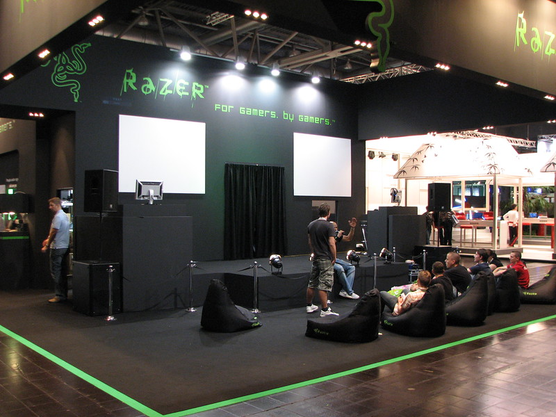 Razer booth on Games Convention 2008