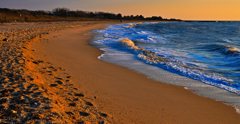 Evening light on Sunset Beach, Cape May, New Jersey.