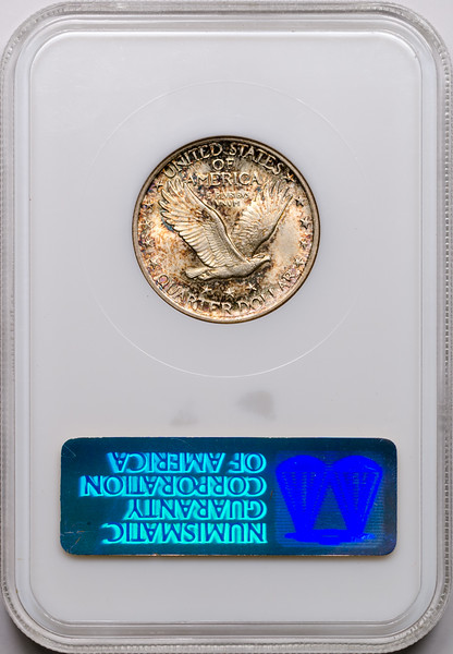 1920 25C QUARTER DOLLAR - STANDING LIBERTY, TYPE 2A NGC MS64 149735-010 CAC Rev Slab.jpg
