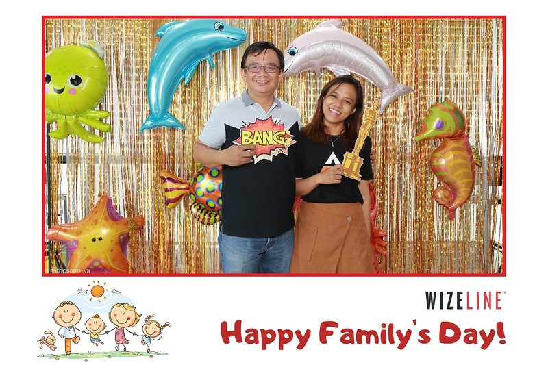 Wizeline Vietnam - Family's Day instant print photo booth - in hình lấy liền Ngày gia đình - Photobooth Saigon