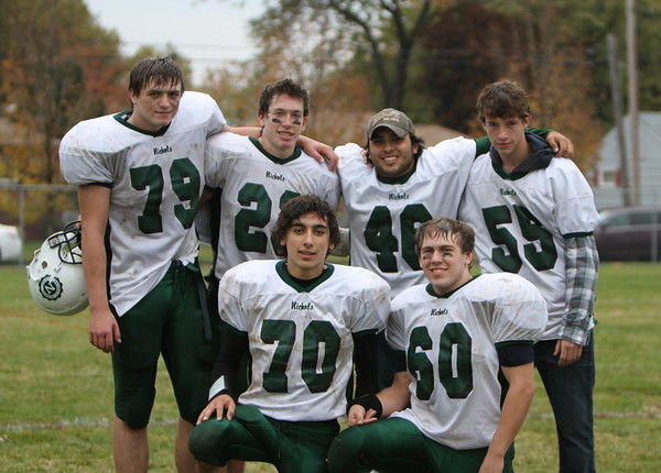 Nichols School Senior Football Players Fall 2010<br /> after win at NC